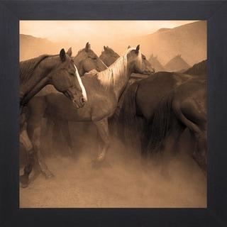 Adam Jahiel 'Remuda, Spanish Ranch' Framed Artwork