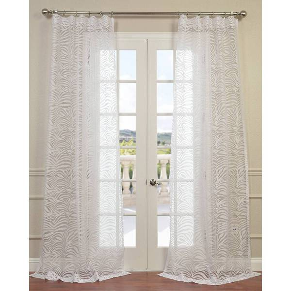 exclusive fabrics zara white 84 inch 96 inch 108 inch 120 inch curtain panel 16986821. Black Bedroom Furniture Sets. Home Design Ideas