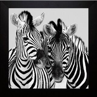 Nina Papiorek 'Namibia Zebras' Framed Artwork
