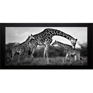 Xavier Ortega 'Giraffe Family' Framed Artwork