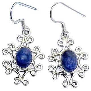 Hand-crafted Sterling Silver Tanzanite Earrings (India)