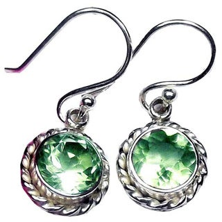 Handcrafted Sterling Silver Gemstone Earrings (India)
