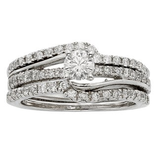 Sofia 14k White Gold 1ct TDW Diamond Bridal Set (H-I, I1-I2)