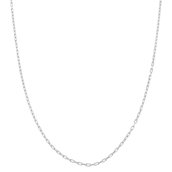 Fremada 14k White Gold 0.9mm Diamond Cut Long Cable Chain