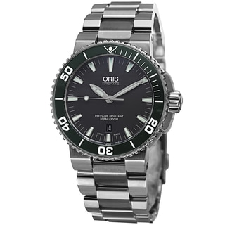 Oris Men's 733 7653 4137 MB 'Divers' Grey Dial Stainless Steel Automatic Watch