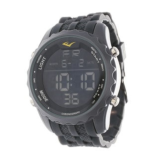 Everlast Jumbo Men's Digital Sport LED Grey Silicone Strap Watch