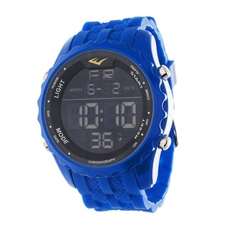 Everlast Jumbo Men's Digital Sport LED Blue Silicone Strap Watch