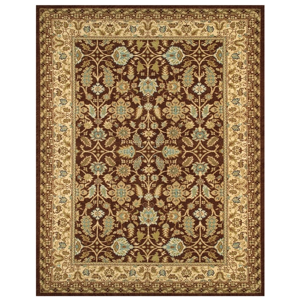 "Grand Bazaar Power Loomed Wilshire Rug in Chocolate/Latte 9'-8"" X 13'"