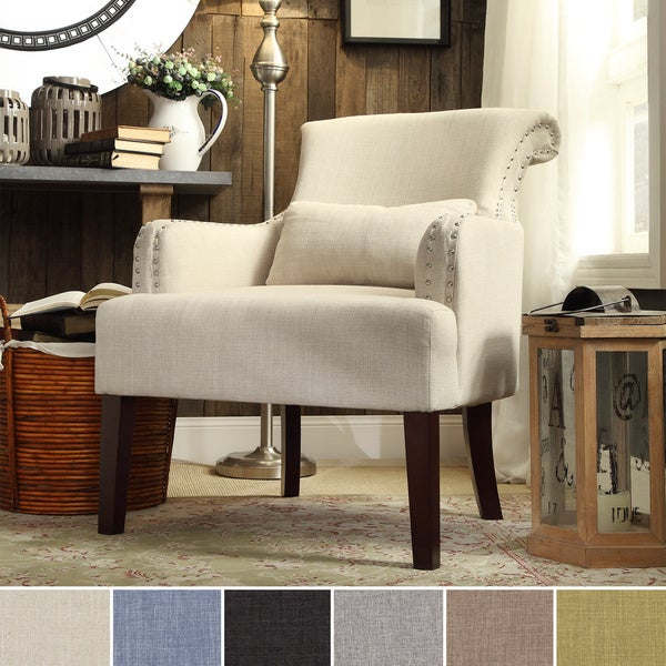 Pillows For Living Room Chairs: INSPIRE Q Washington Nailhead Roll Back Upholstered Sleigh