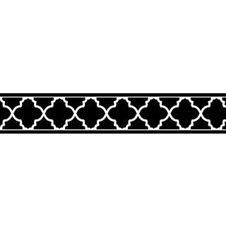 Sweet Jojo Designs Neutral Black/ Red Trellis Wall Border