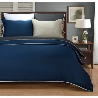 Wrinkle Resistant 600 Thread Count Bahama Solid 3-piece Duvet Cover Set