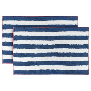 Sherry Kline La Boracay Striped Bath Mat (Set of 2)