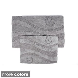 Swirl Collection 2-piece Cotton Bath Rug Set