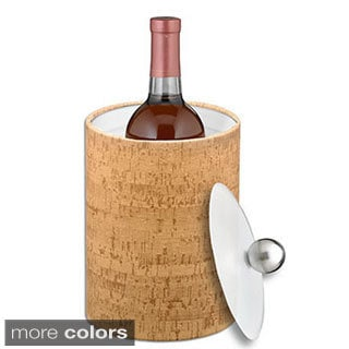 Cork 2-quart Tall Ice Bucket with Lucite Lid