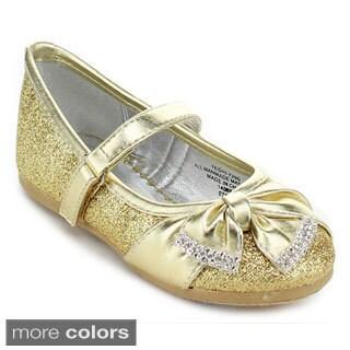 Little Angel TESHI-729D Toddler Girls' Glittering Middle Strap Dress Shoes