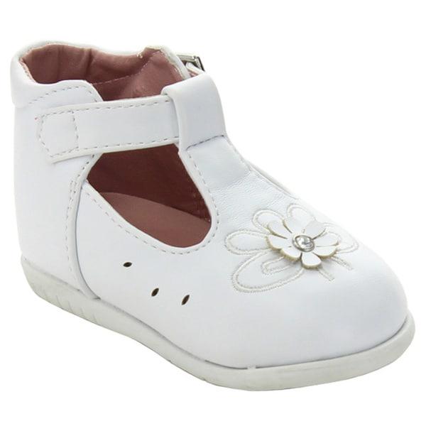 Addi Emma-766 Infant Girls' Strap Butterfly Flower Dress Shoes