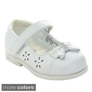 ADDI AVERY-764 Infant Girls' Strap Bow Tie Detailed Dress Shoes