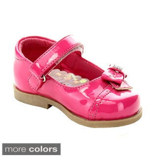 Addi Avery-758 Infant Girls' Strap Bow Tie Detailed Dress Shoes