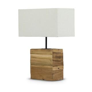 Satori Wood and Fabric Lamp