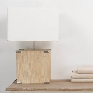 Kostka Wood and Fabric Lamp