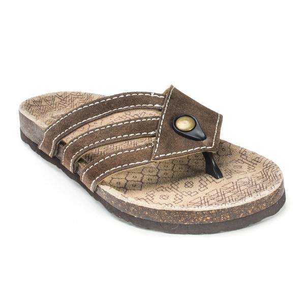 Muk Luks Women's 'Ginger' Brown Terra Turf Sandals