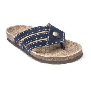 Muk Luks Women's 'Ginger' Navy Terra Turf Sandals