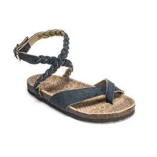Muk Luks Women's 'Zara' Blue Braided Strappy Sandals