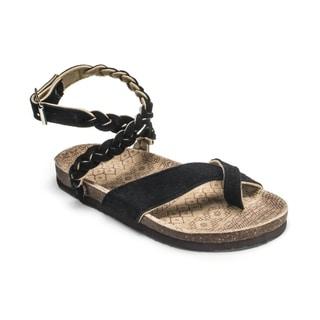 Muk Luks Women's 'Zara' Black Braided Strappy Sandals