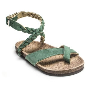 Muk Luks Women's 'Zara' Emerald Braided Strappy Sandals