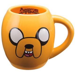Adventure Time Jake Orange Oval Ceramic Coffee Mug