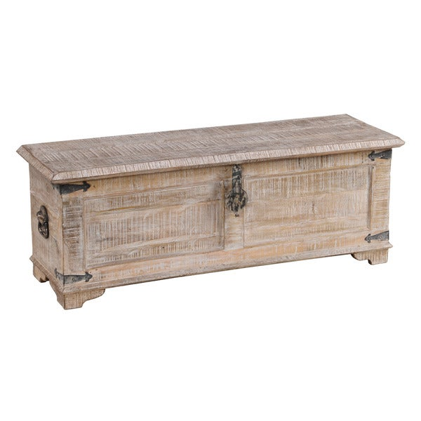 Hilton White Wash Mango Wood Half Chest