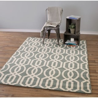 Moroccan Inspired Contemporary Trellis Design Area Rug (5'3 x 7'3)