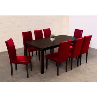 Warehouse of Tiffany Shino Red 9-piece Dining Set