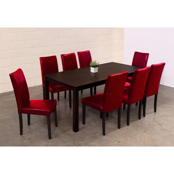 Warehouse of Tiffany Shino Red 9-piece Dining Set