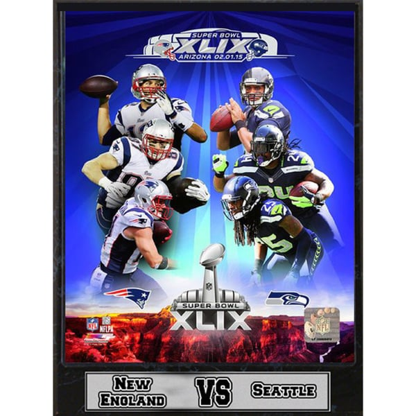 Super Bowl XLIX Matchup Framed Plaque (9-inch x 12-inch)