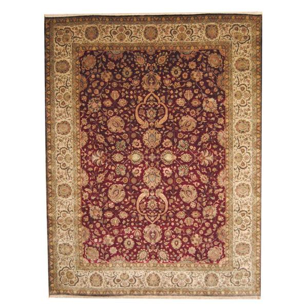 Herat Oriental Afghan Hand-knotted Vegetable Dye 1920s Antique Ziegler Wool Rug (9' x 11'9) 14810077