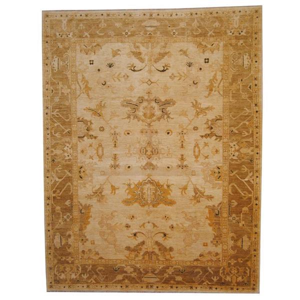 Herat Oriental Afghan Hand-knotted Vegetable Dye Ziegler Wool Rug (9' x 11'4) 14810119