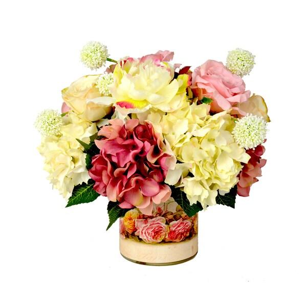 Rose/ Hydrangea/ White Allium Floral Arrangement