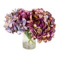 Kaleidoscope Hydrangea Floral Arrangement in Glass Vase