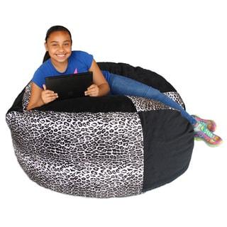 Koze Fom Cheetah Print/ Black Shredded Foam Bag Bean Bag