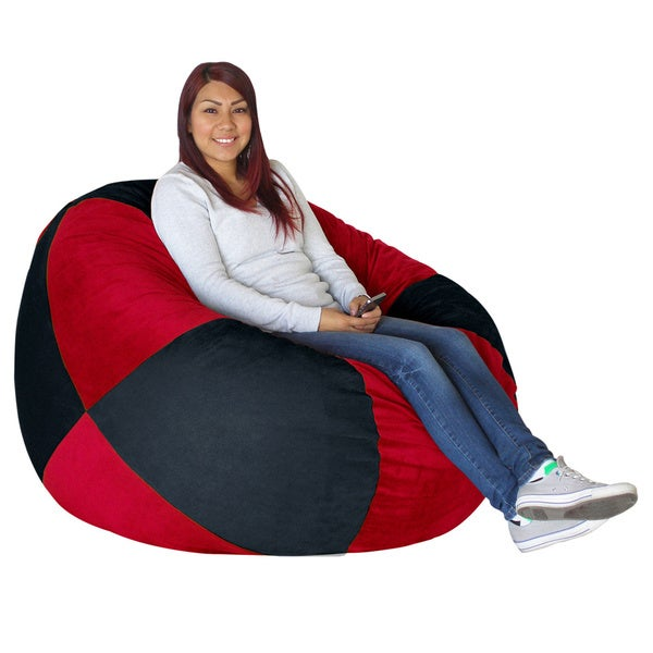 Koala Foam Black/ Scarlett Red Shredded Foam Bag Bean Bag