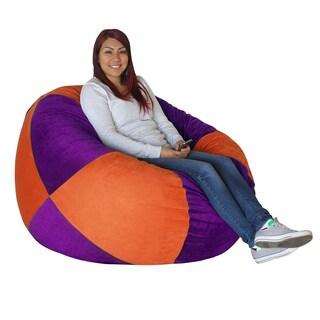 Koze Fom Orange/ Purple Print Shredded Foam Bag Bean Bag