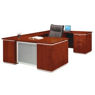 "DMI Office Furniture Pimlico Veneer Bronze Cherry Finish Right Executive ""U"" Shaped Desk"