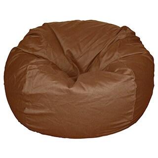 36-inch Wide Brown Organic Cotton Washable Bean Bag Chair