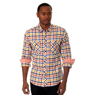 Something Strong Men's Long sleeve flannel shirt in Yellow