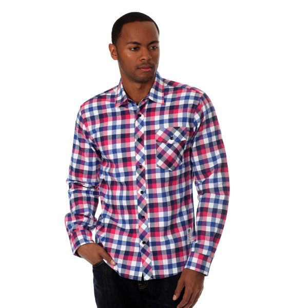 Something Strong Men's Long Sleeve Plaid Shirt
