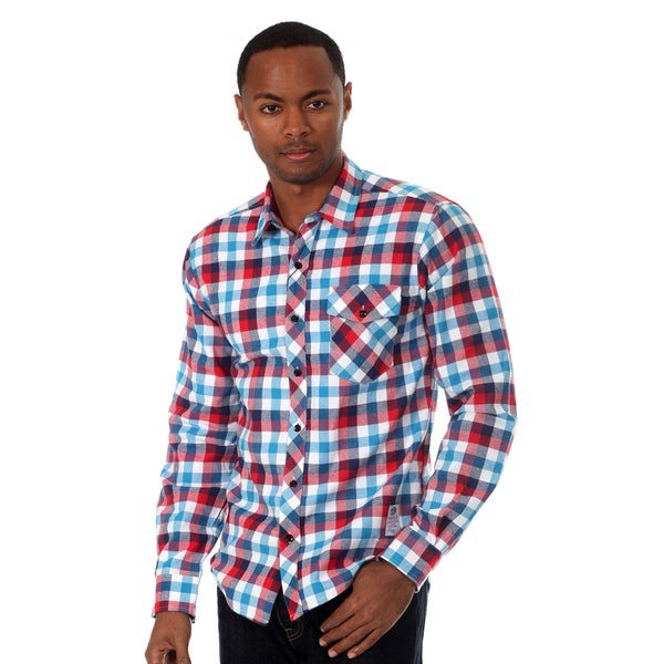 Something Strong Men's Long Sleeve Plaid Shirt