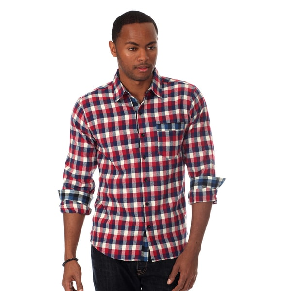 Something Strong Men's Flannel Shirt in Red