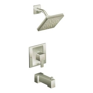 Moen 90-degree Brushed Nickel PosiTemp Tub and Shower Fixtures