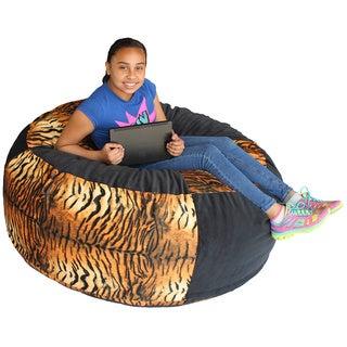 Koze Fom Tiger Stripe Print Shredded Foam Bag Bean Bag